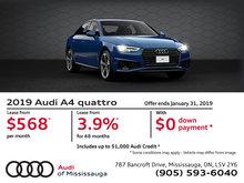 2019 Audi A4 Sedan - January Special Offers