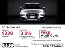 2019 Audi A3 - February Offer