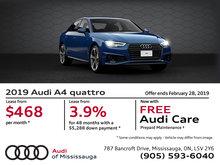 2019 Audi A4 quattro - February Offer