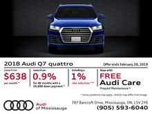 2018 Audi Q7 quattro - February Offer