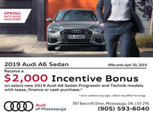 Thinking about switching to an Audi? Here's a $2,000 Credit!