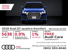 Spring Into Audi Sales Event - 2018 Q7