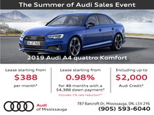 Summer of Audi Sales Event | 2019 Audi A4