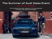 Summer of Audi Sales Event Details