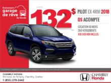 Procurez-vous le Honda Pilot 2018!