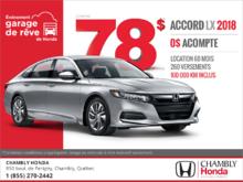 Procurez-vous la Honda Accord 2018!