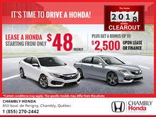 It's Time to Drive a Honda - October