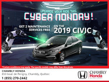 It's Cyber Monday at Chambly Honda!
