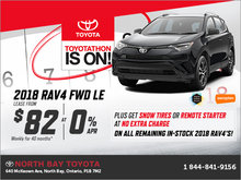 Limited time offer on the 2018 Toyota RAV4!