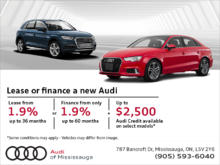Lease or Finance a New 2018 Audi!