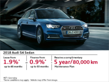 Drive the 2018 S4 Sedan today!