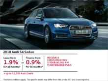 Drive the 2018 S4 Sedan today!