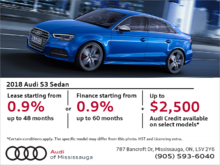 Drive the 2018 S3 Sedan today!