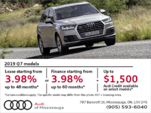 Drive the 2019 Audi Q7 today!