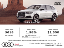 Drive the 2019 Q7 today!