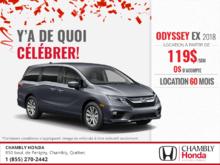 Procurez-vous la Honda Odyssey 2018!