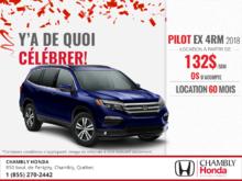 Procurez-vous la Honda Pilot 2018!