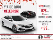 Procurez-vous la Honda Civic 2018!