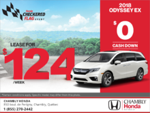 Get the 2018 Honda Odyssey today!
