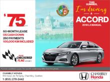 Lease the 2018 Honda Accord!