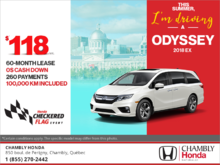 Lease the 2018 Honda Odyssey!