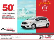 Louez la Honda Fit 2018!