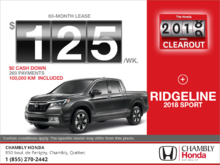 Lease the 2018 Honda Ridgeline!