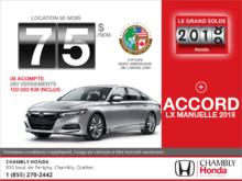 Louez la Honda Accord 2018!
