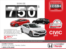 Louez la Honda Civic 2018!