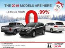 The 2019 Models are Here!