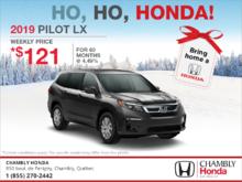 Lease the 2019 Honda Pilot!