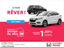 Louez le Honda HR-V 2019!