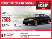 Honda Civic 2017 en location