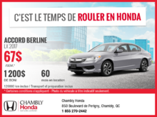 Honda Accord 2017 en location