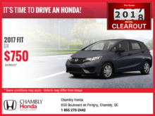 Save on the New 2017 Honda Fit!