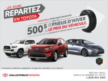 Les jours repartez en Toyota!