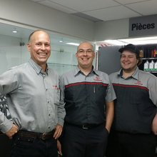 Paul Laffage, Martin Hamel et Mickael Carrier