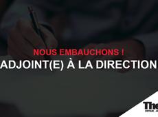 Offre d'emploi: Adjoint(e) à la direction