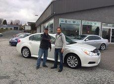 Félicitations à Denis Lacasse pour sa nouvelle Subaru !