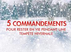 5 COMMANDEMENTS POUR RESTER EN VIE PENDANT UNE TEMPÊTE HIVERNALE