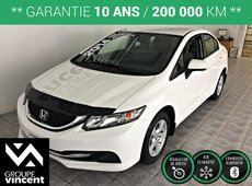 Honda Civic Sedan LX**MAGS/ BLUETOOTH/ SIÈGES CHAUFFANTS** 2014
