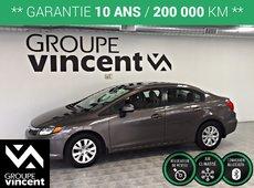 Honda Civic LX ** GARANTIE 10 ANS ** 2012