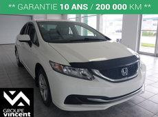 Honda Civic LX**BAS KILOMÉTRAGE** 2014