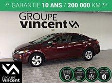 Honda Civic LX **GARANTIE 10ANS** 2015