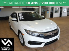 Honda Civic SEDAN LX**GARANTIE 10 ANS** 2016