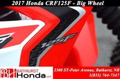 2017 Honda CRF125F Big Wheels!