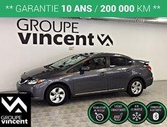 Honda Civic LX ** GARANTIE 10 ANS ** 2015