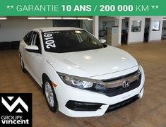Honda Civic SEDAN LX**GARANTIE 10 ANS** 2016