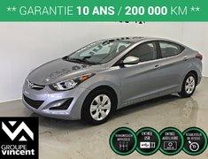 Hyundai Elantra L **GARANTIE 10 ANS** 2016