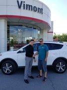 Nous avons adoré notre expérience chez Vimont Toyota Laval!!